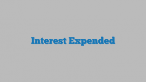 Interest Expended