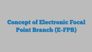 Concept of Electronic Focal Point Branch (E-FPB)